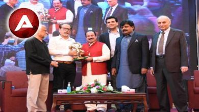 Photo of Rahat Fateh Ali Khan awarded with the lifetime achievement award and honorary membership by the Arts Council
