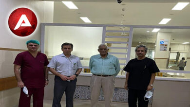 Photo of Prof. Irshad Waheed, Secretary College of Physicians and Surgeons Pakistan, visited the JPMC