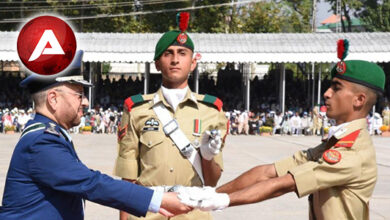 Photo of Passing out parade of cadets of 144th Long Course, 63rd Integrated Course, 33rd Technical Graduate Course, 3rd Basic Military Training Course and 18th Lady Cadets Course held at Pakistan Military Academy (PMA) Kakul today.